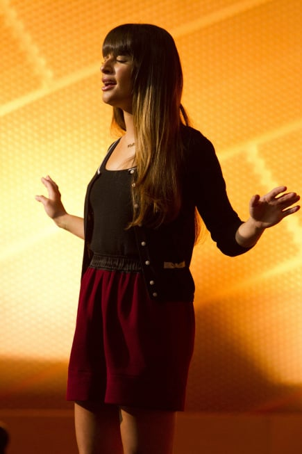 Rachel's still belting it out in Glee's fourth season.