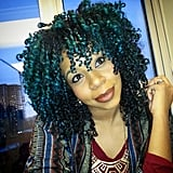 Green and Cobalt Curls