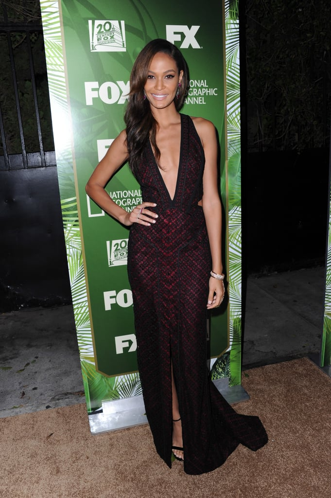 Model Joan Smalls arrived in style for the Fox/FX party.