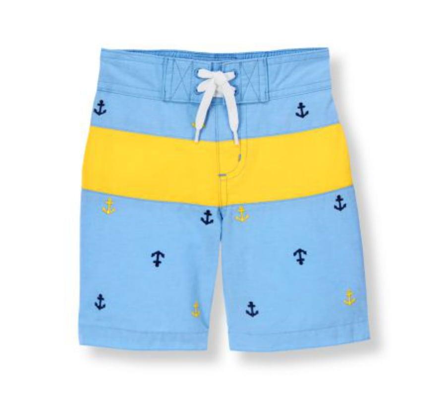f6006d4113 Anchor Stripe Swim Trunk | Striped Bathing Suits For Boys | POPSUGAR ...