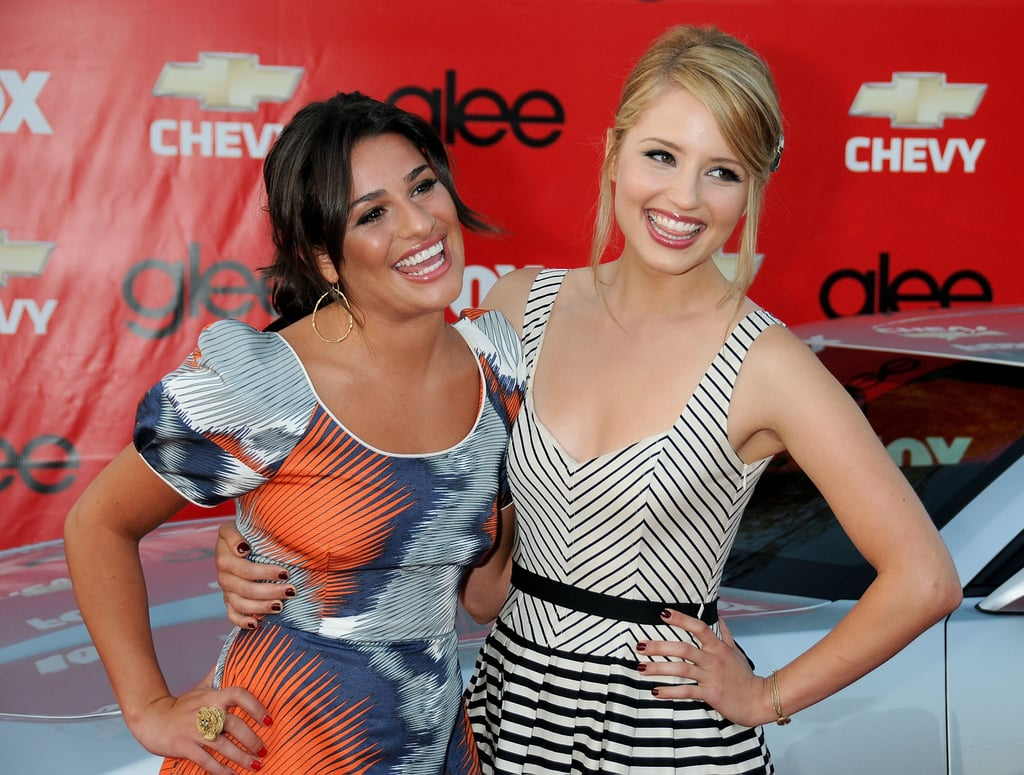 Lea had a laugh with her Glee costar Dianna Agron at the show's premiere screening in LA in September 2009.