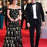 في فبراير 2017، حضرت كيت حفل جوائز الأكاديمية البريطاني للأفلام مُرتديةً فستاناً آسراً من أزياء ألكسندر ماكوين وحقيبة كلتش من الساتان الأسود من العلامة ذاتها.