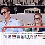 They were all smiles at the International Cannes Jumping tour in June 2012.