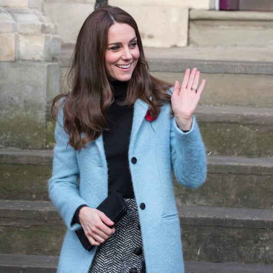 Kate Middleton's Blue Mulberry Coat November 2016