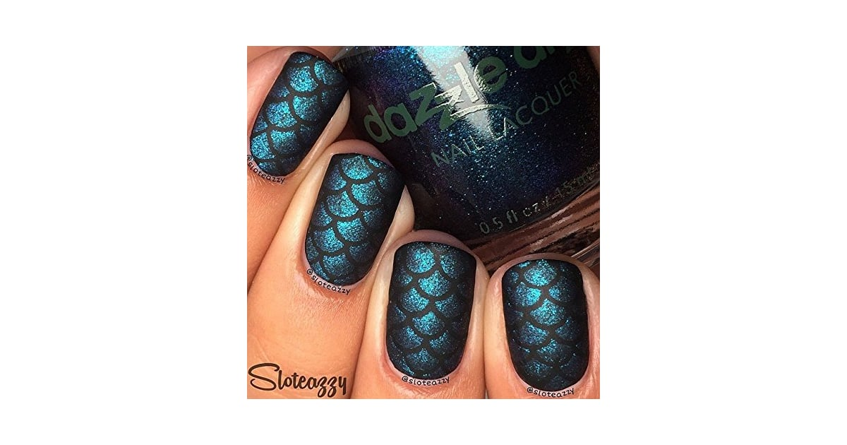 Whats Up Nails in Scale Mermaid Nail Stencils Stickers Vinyls for ...