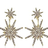 Gold Star Statement Dangle Earrings