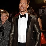 Matthew McConaughey flashed his pearly whites.