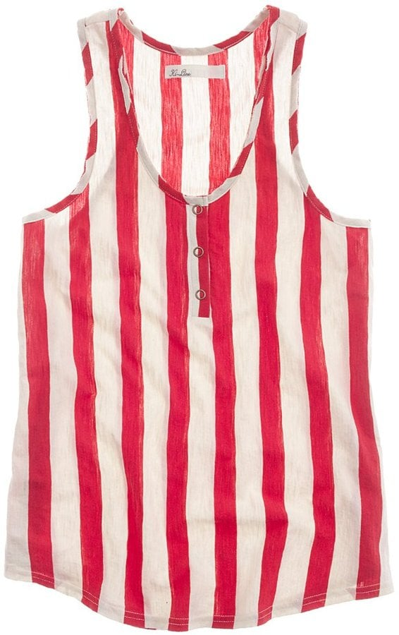 Play the candy striper in this chic, floaty striped tank.  Madewell Striped Tailspin Tank ($40)