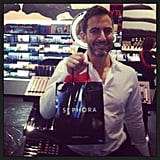 The Marc Jacobs beauty line was the biggest color cosmetics launch of 2013, and he took time out of his schedule to shop the Sephora collection in person.  Source: Instagram user sephora