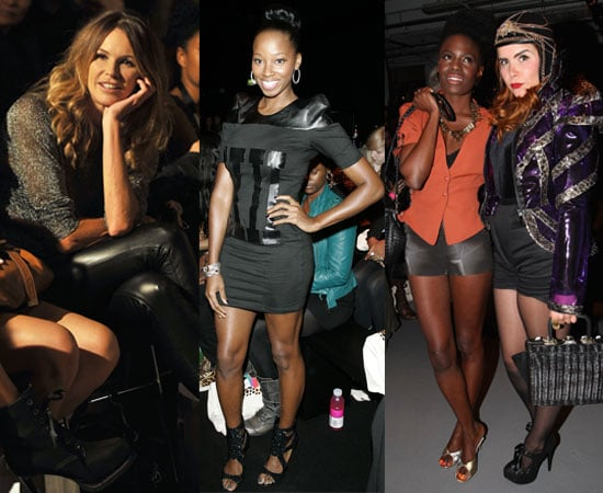 Pictures of Celebrities in the Front Row at 2011 Spring London Fashion Week Including Elle Macpherson, Paloma Faith and more