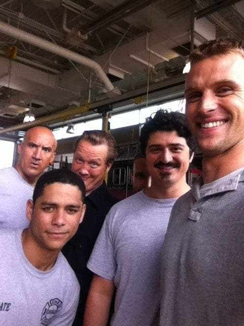The cast of the upcoming series Chicago Fire, including Jesse Spencer, posed. Source: Pinterest user Chicago Fire NBC