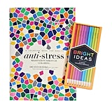 Anti-Stress Coloring Book and Neon Pencils