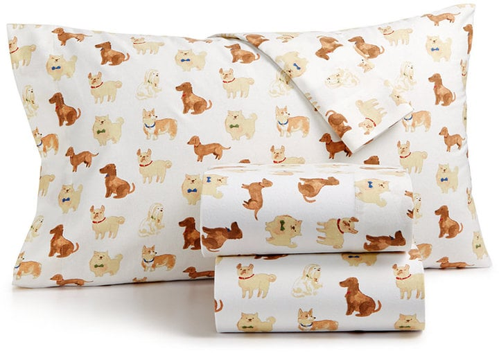 Martha Stewart Show Dogs Flannel Sheet Set Best Flannel Sheets Best Martha Stewart Collection Bedding Dogs Decorative Pillows