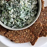 Spinach Dip With Flaxseed Crackers