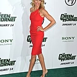 One of our favorites in a standout color and perfect, curve-hugging fit for The Green Hornet Premiere in January 2011.