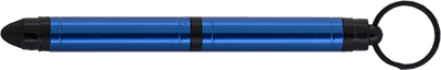 Blue Tough Touch Key Chain Space Pen