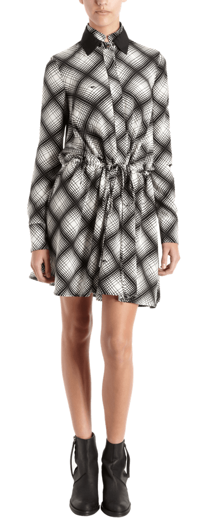 It's not just a cool play on plaid; this 10 Crosby Derek Lam Double Collar Drawstring Dress ($555) takes the collared look to a cooler place too.