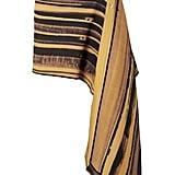 Peter Do Asymmetric Striped Wool and Silk-Blend Cady Wrap Mini Skirt