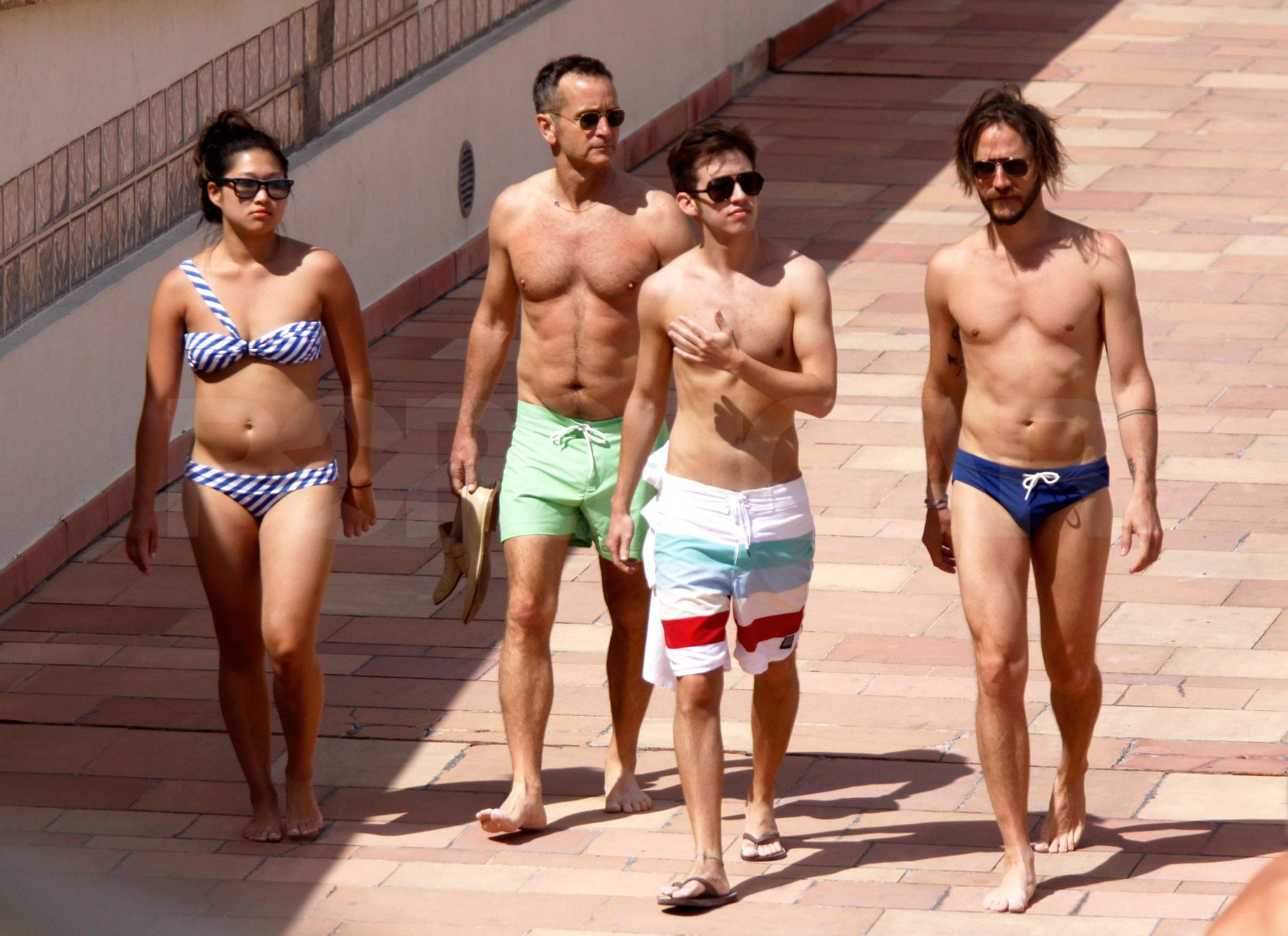 of Glee s Jenna Ushkowitz in a Bikini With Costar Kevin