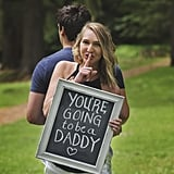 Surprise Chalkboard Pregnancy Announcement