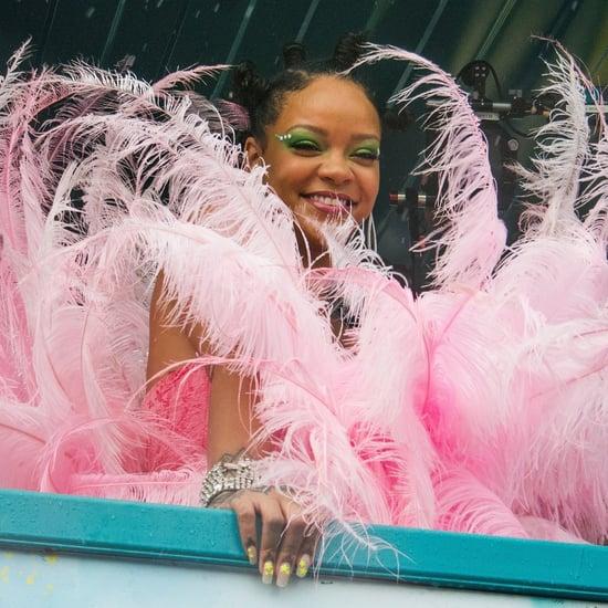 Rihanna's Neon Star Nail Art