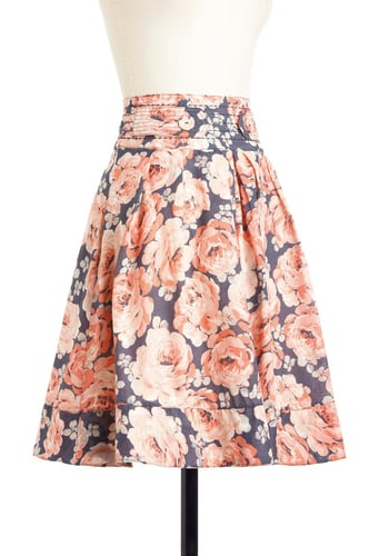 The striking colors and bold floral print let this skirt speak for itself. ModCloth Pastel the Time Skirt ($58)