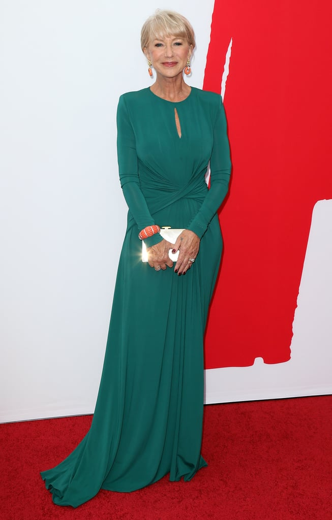Helen Mirren wore a green number.