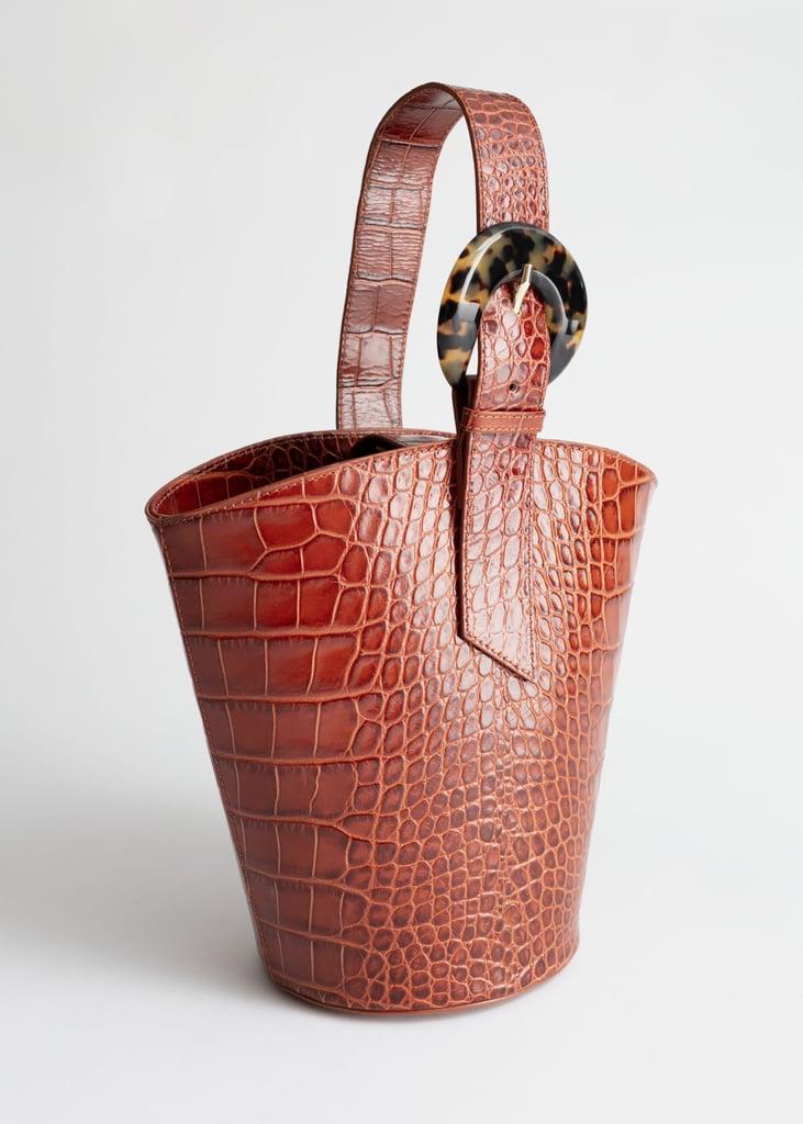 & Other Stories Croc Tortoise Bucket Bags