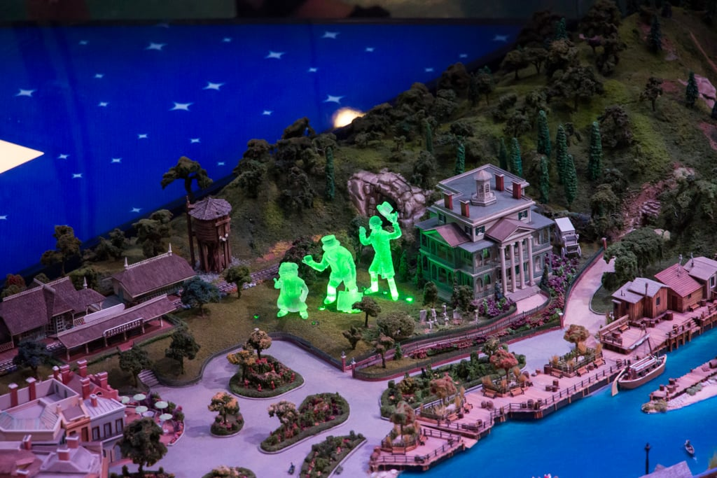 The Haunted Mansion in the model.