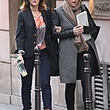 Drew Barrymore left her Paris hotel to go shopping.