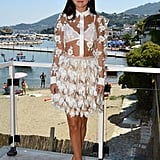 On Saturday, Selena Gomez wore a super sheer dress to the Ischia Global Film & Music Fest in Ischia, Italy.