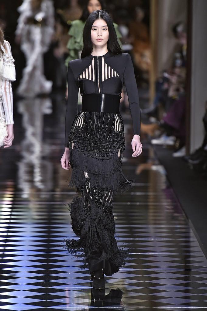 Queen Rania's Balmain Skirt on the Fall 2016 Runway