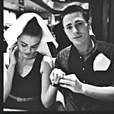 "Holland Roden: ""#tbt @coltonlhaynes our Vegas, Applebee's almost napkin wedding. We always said we stood by classy...."""