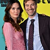 Katie Aselton and Mark Duplass at The Morning Show Premiere