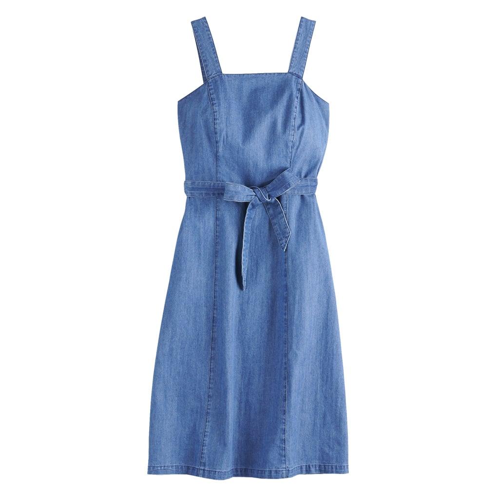 590e4230a0b8 POPSUGAR Belted Denim Dress | Feminine Denim Trend | POPSUGAR ...
