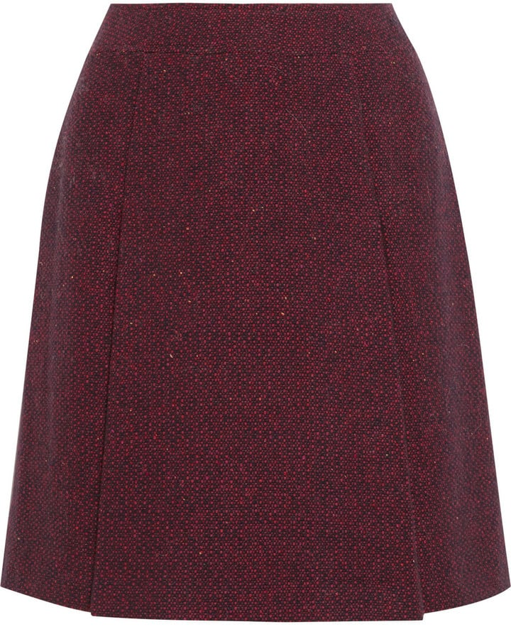 Atelier A.P.C. de Production et de Création Bab Wool-Blend Tweed Skirt ($280)