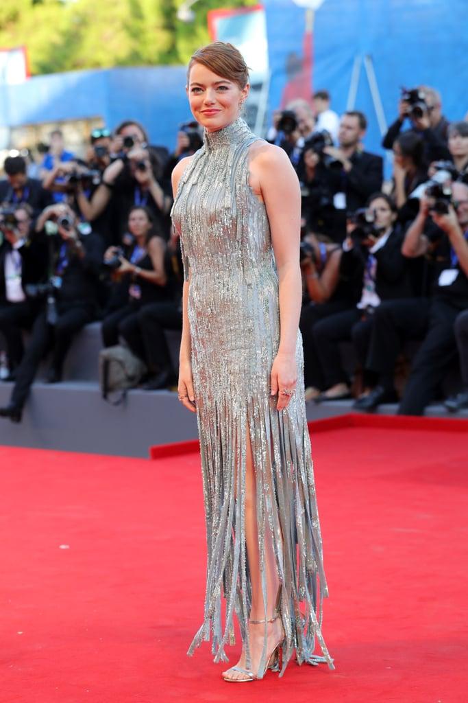 Emma Stone at the La La Land Premiere During the Venice Film Festival