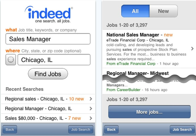 Job Search by Indeed com | Best iPhone Apps For Job Seekers
