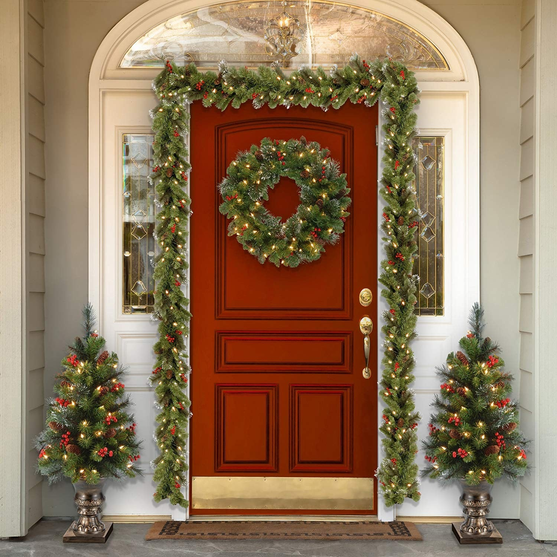 best holiday wreaths on amazon popsugar home