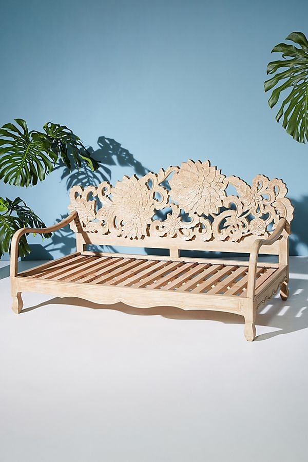 Hand-Carved Lotus Daybed