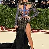 Jennifer Lopez Wearing Balmain to the 2018 Costume Institute Gala