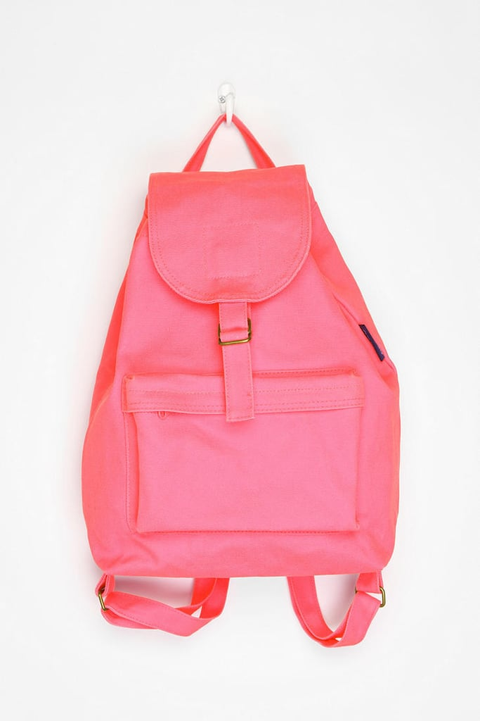 We like to stay hands-free — more room for dancing — during music festivals. Stash all of your necessities in this eye catching hot pink backpack.  Baggu Canvas Backpack ($24)
