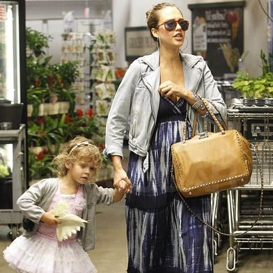 Jessica Alba and Honor Warren Grocery Shopping Pictures