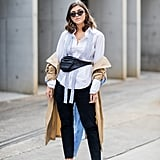 Your Cropped Jeans and White Blouse Have a Place in Autumn: Under a Long Trench
