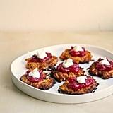 Sweet Potato Latkes With Cranberry Sauce
