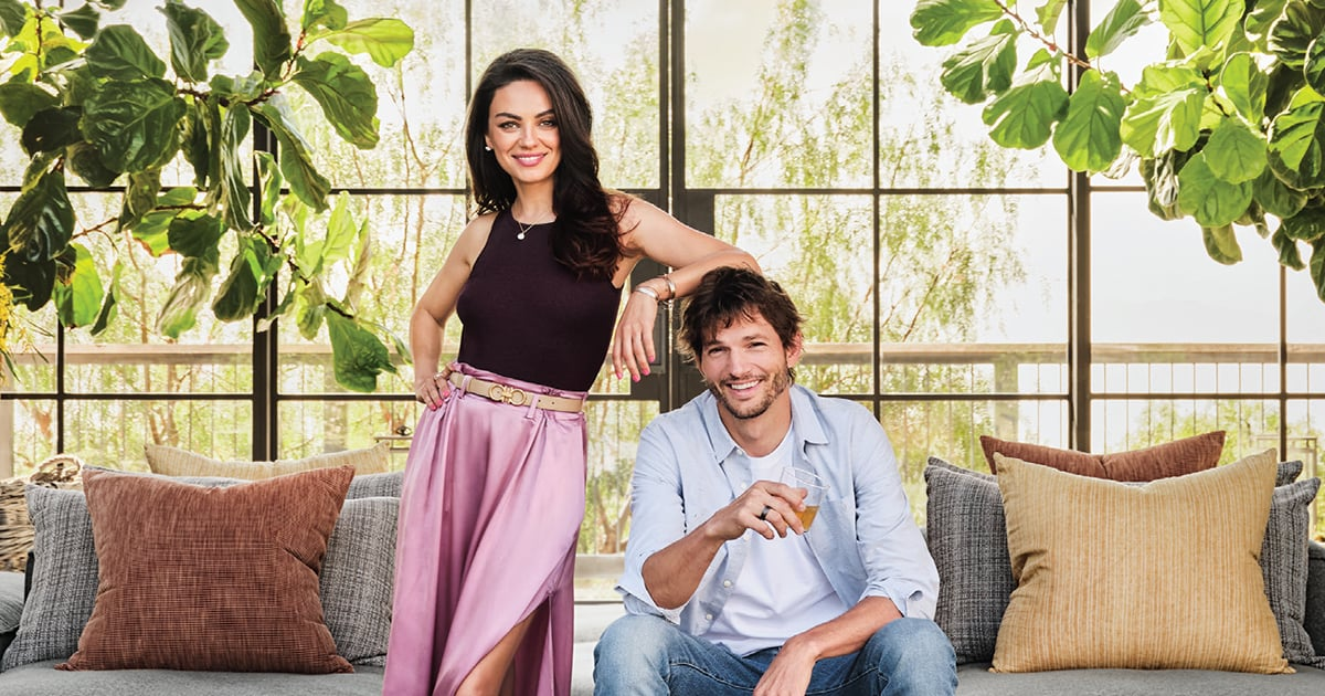 Mila Kunis and Ashton Kutcher's Farmhouse Includes a 10-Foot-Long Crystal Chandelier