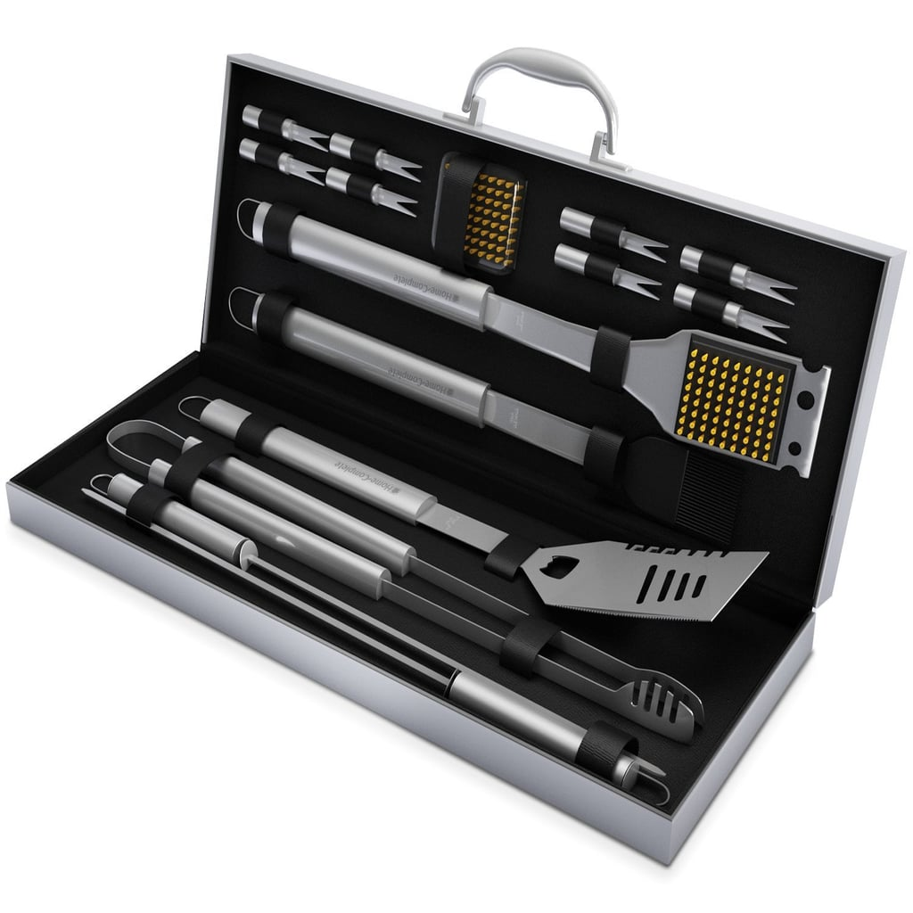 BBQ Grill Tool Set — 16 Piece Stainless Steel Barbecue Grilling Accessories Kit