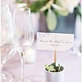 Garden Wedding Escort Cards With Sticks
