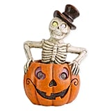 National Tree Company Lighted Pumpkin and Skeleton Halloween Decoration