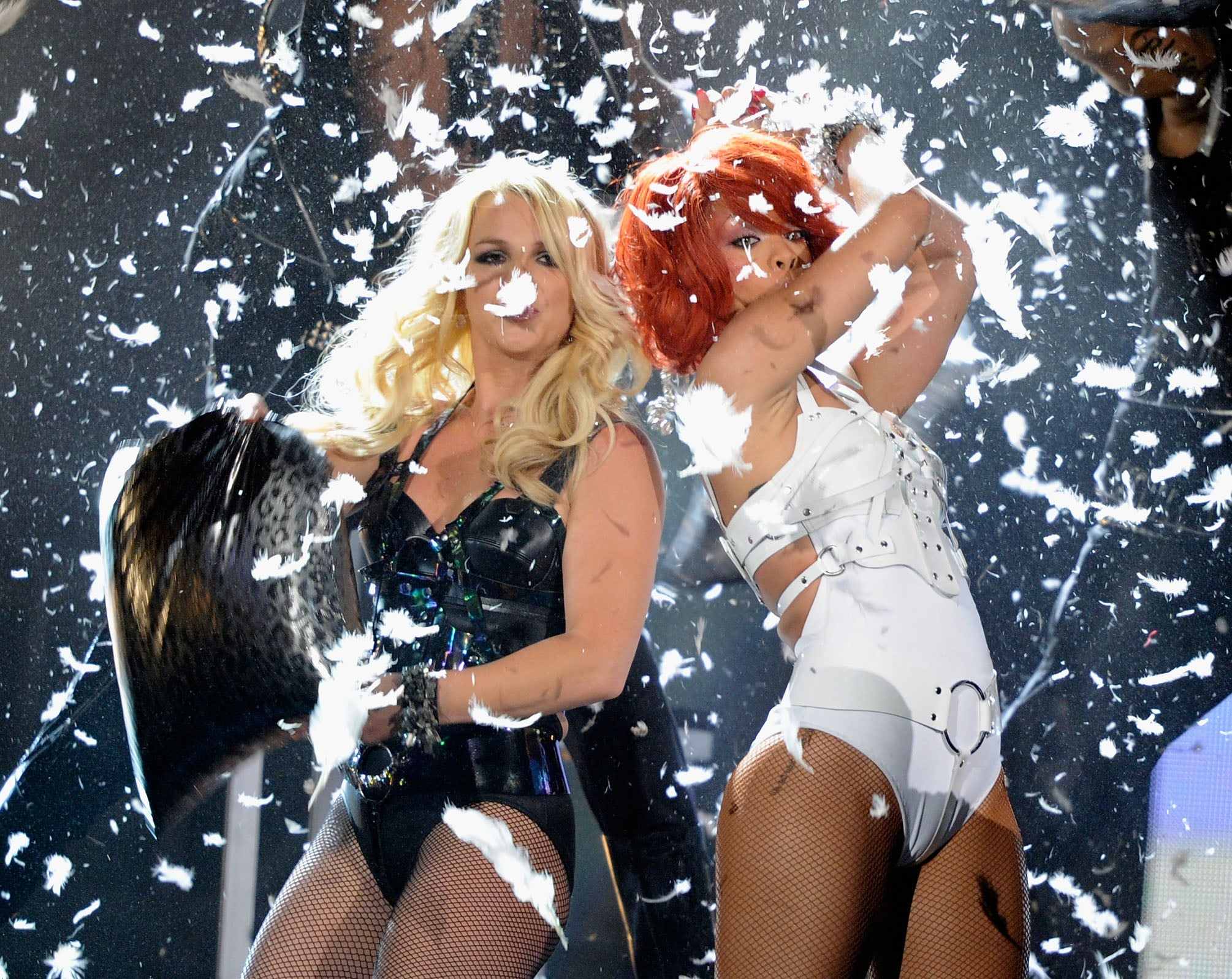 Britney Spears and Rihanna On Stage